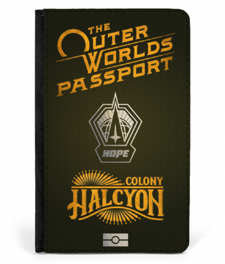 Halcyon Colony Faux Leather Passport Protector Cover Inspired By The Outer Worlds